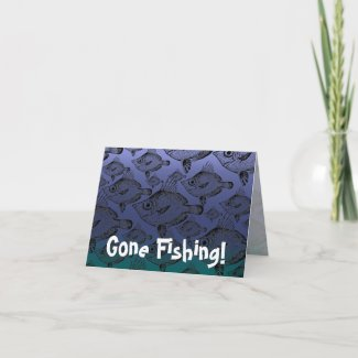 The Boar Fish: Gone Fishing - Note Card card