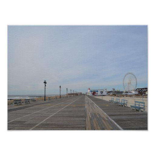 The Boardwalk at Ocean City, NJ Poster