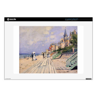 """The Boardwalk at Trouville by Claude Monet 15"""" Laptop Decal"""