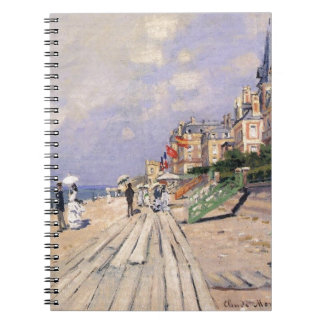 The Boardwalk at Trouville by Claude Monet Notebook