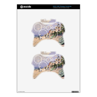 The Boardwalk at Trouville by Claude Monet Xbox 360 Controller Skin