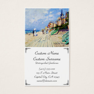 The Boardwalk at Trouville Claude Monet Business Card