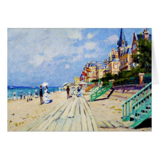 The Boardwalk at Trouville Claude Monet Card