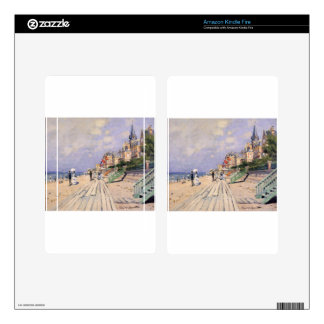 The Boardwalk at Trouville Claude Monet Decal For Kindle Fire