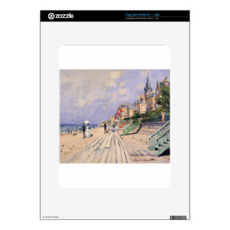 The Boardwalk at Trouville Claude Monet Decals For The iPad