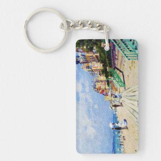 The Boardwalk at Trouville Claude Monet Keychain