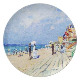 The Boardwalk at Trouville Claude Monet Dinner Plates