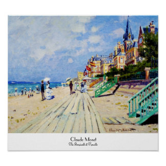 The Boardwalk at Trouville Claude Monet Poster
