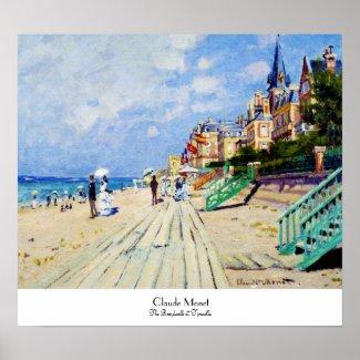 The Boardwalk at Trouville Claude Monet Poster