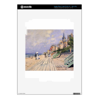 The Boardwalk at Trouville Claude Monet Skin For iPad 3