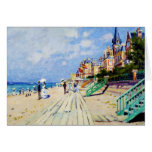 The Boardwalk at Trouville Claude Monet Stationery Note Card
