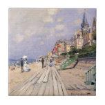 "The Boardwalk at Trouville Claude Monet Tile<br><div class=""desc"">The Boardwalk at Trouville Claude Monet boardwalk, trouville, 1970, claude, monet, cool, old, master, masterpiece, fine</div>"