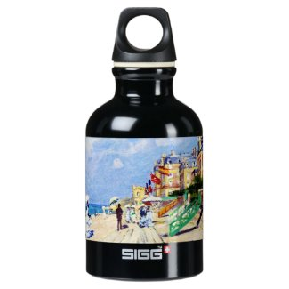 The Boardwalk at Trouville Claude Monet Water Bottle
