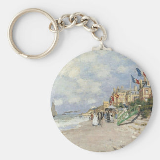 The Boardwalk on the Beach at Trouville by Claude Keychain