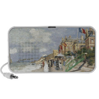 The Boardwalk on the Beach at Trouville by Claude Portable Speaker