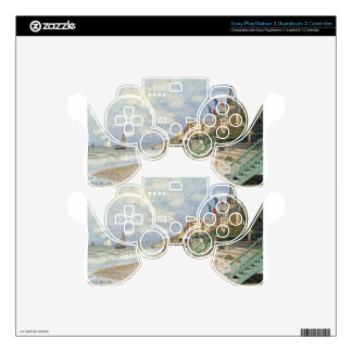 The Boardwalk on the Beach at Trouville by Claude PS3 Controller Skin
