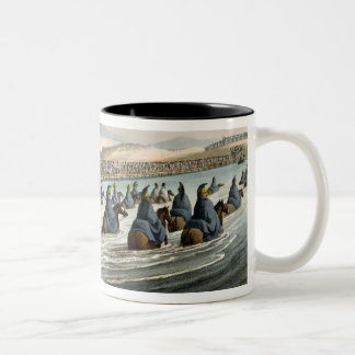 The Boasted Crossing of the Niemen at the Opening Two-Tone Coffee Mug