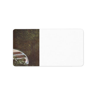 The Boat by Claude Monet Address Label
