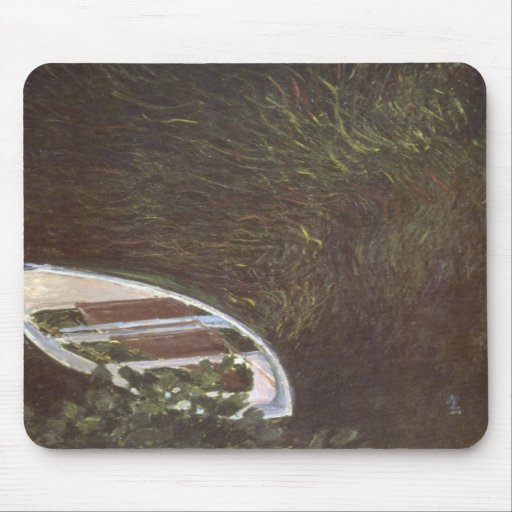 The Boat by Claude Monet Mousepads