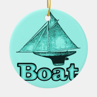 the boat ceramic ornament