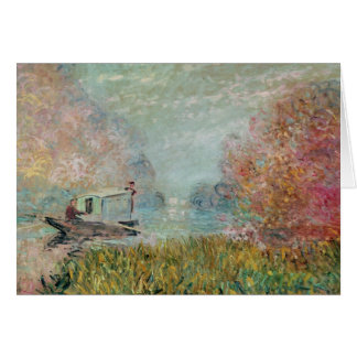 The Boat Studio on the Seine, 1875 Greeting Card