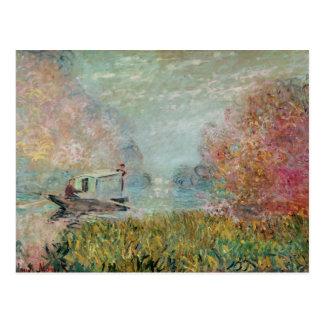 The Boat Studio on the Seine, 1875 Postcard