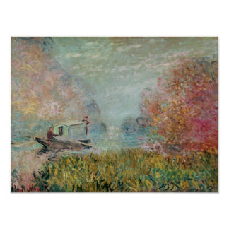 The Boat Studio on the Seine, 1875 Poster