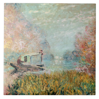 The Boat Studio on the Seine, 1875 Tile