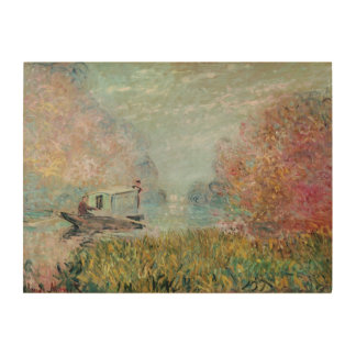 The Boat Studio on the Seine, 1875 Wood Wall Art