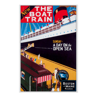 The Boat Train Poster