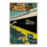 The Boat Train - Vintage Travel Poster