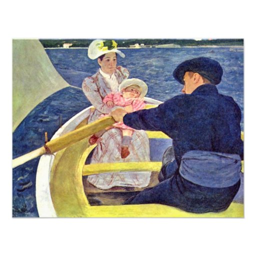 The Boat Trip By Cassatt Mary (Best Quality) Invitations