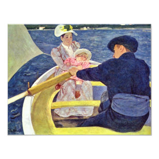 The Boat Trip By Cassatt Mary (Best Quality) 4.25x5.5 Paper Invitation Card