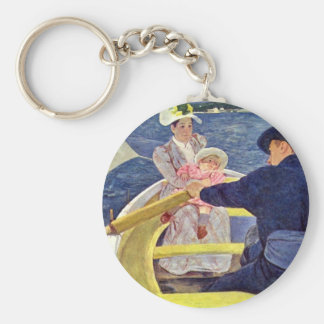 The Boat Trip By Cassatt Mary (Best Quality) Keychains