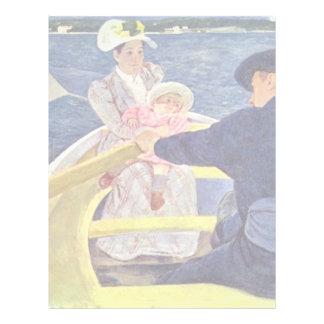 The Boat Trip By Cassatt Mary (Best Quality) Custom Letterhead