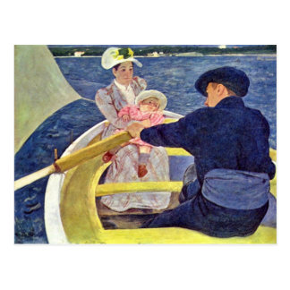 The Boat Trip By Cassatt Mary (Best Quality) Postcard