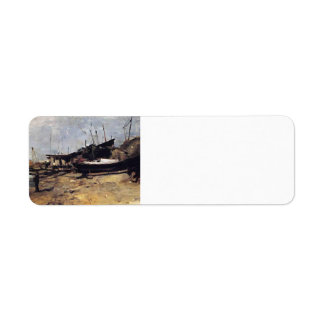 The Boat Yard by John Henry Twachtman Custom Return Address Labels