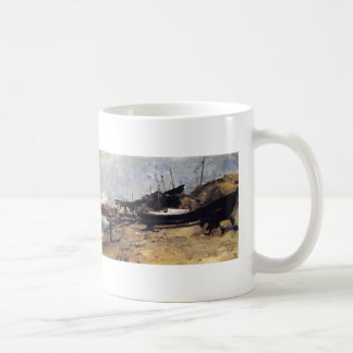 The Boat Yard by John Henry Twachtman Classic White Coffee Mug