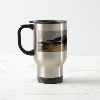 The Boat Yard by John Henry Twachtman 15 Oz Stainless Steel Travel Mug