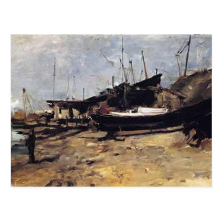 The Boat Yard by John Henry Twachtman Post Cards