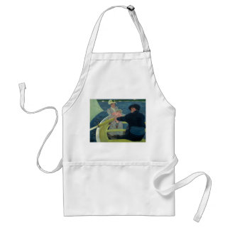 The Boating Party by Mary Cassatt Adult Apron