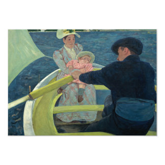 The Boating Party by Mary Cassatt 5x7 Paper Invitation Card