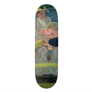 The Boating Party by Mary Cassatt Skateboard Deck