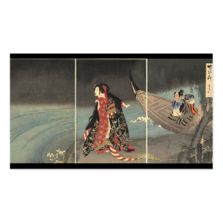 The Boatman, circa 1898. Japanese Painting Business Cards