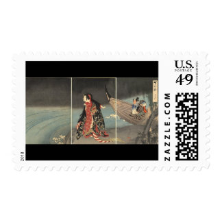 The Boatman, circa 1898. Japanese Painting Postage Stamps