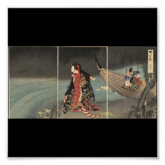 The Boatman, circa 1898. Japanese Painting Poster