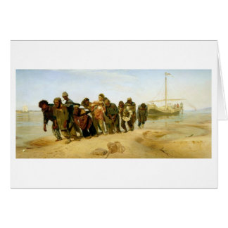 The Boatmen on the Volga, 1870-73 Card