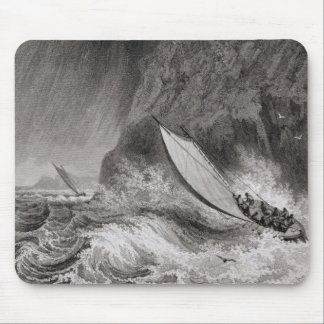 The boats off Walden Island in a snow storm, Augus Mouse Pad