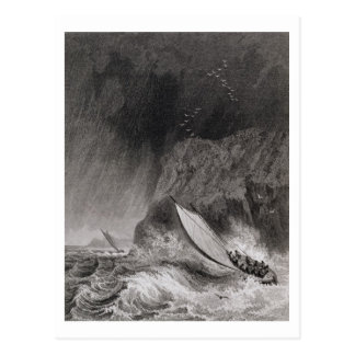 The boats off Walden Island in a snow storm, Augus Postcard