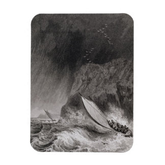 The boats off Walden Island in a snow storm, Augus Vinyl Magnet